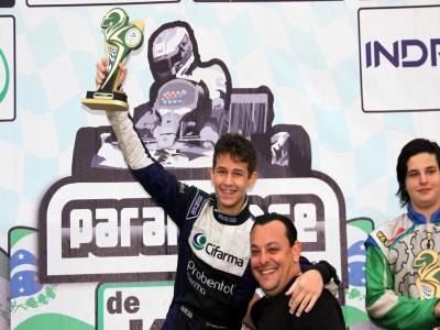 Nathan Brito mostra o DNA do pai e é campeão da Novatos no Paraná