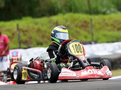 Breno Ebrahim foi nono no Paranaense de Kart