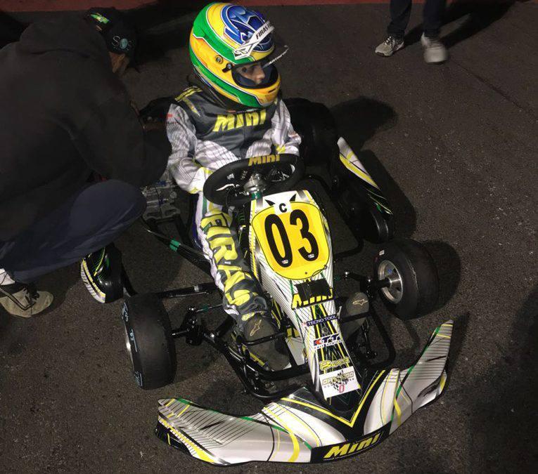 Desempenho no Open empolga Firás para o Brasileiro de Kart