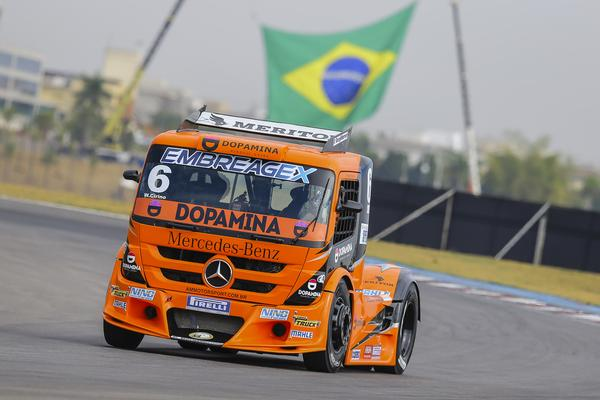 Cirino confirma favoritismo e crava a pole da Copa Truck em Goiânia