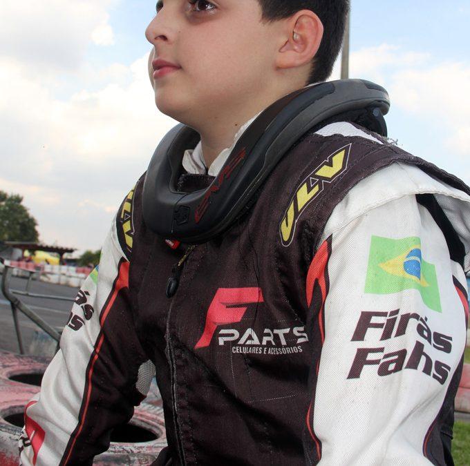 Firás Fahs está pronto para o Paranaense de Kart