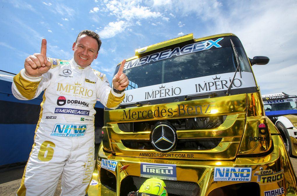 Pole position da Copa Truck no Uruguai fica com Wellington Cirino