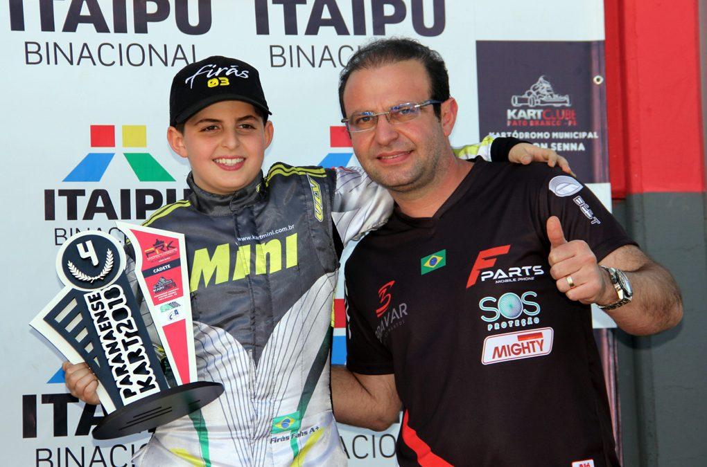 Firás Fahs encerra a temporada domingo nas 500 Milhas de Kart