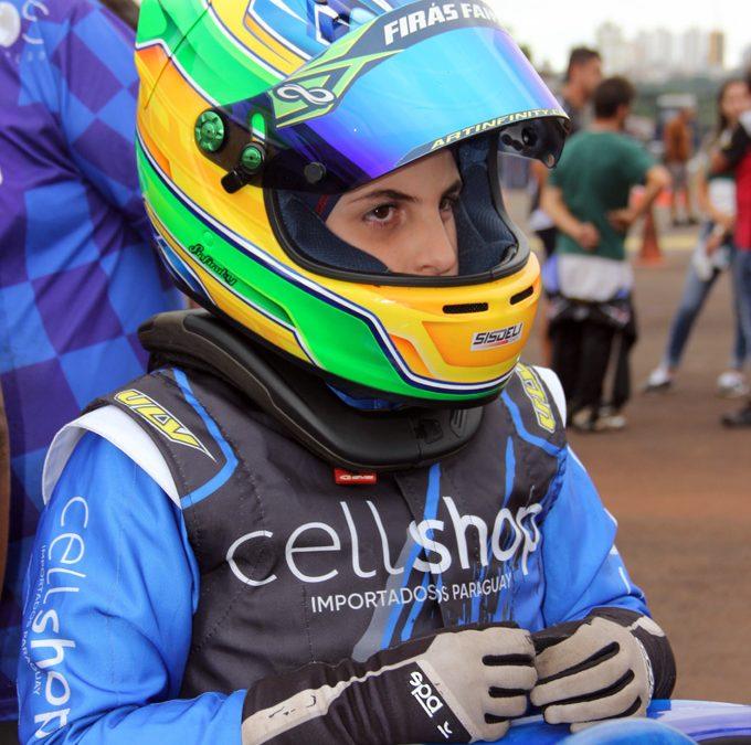 Firás Fahs torce por chuva no Campeonato Sul-Brasileiro de Kart