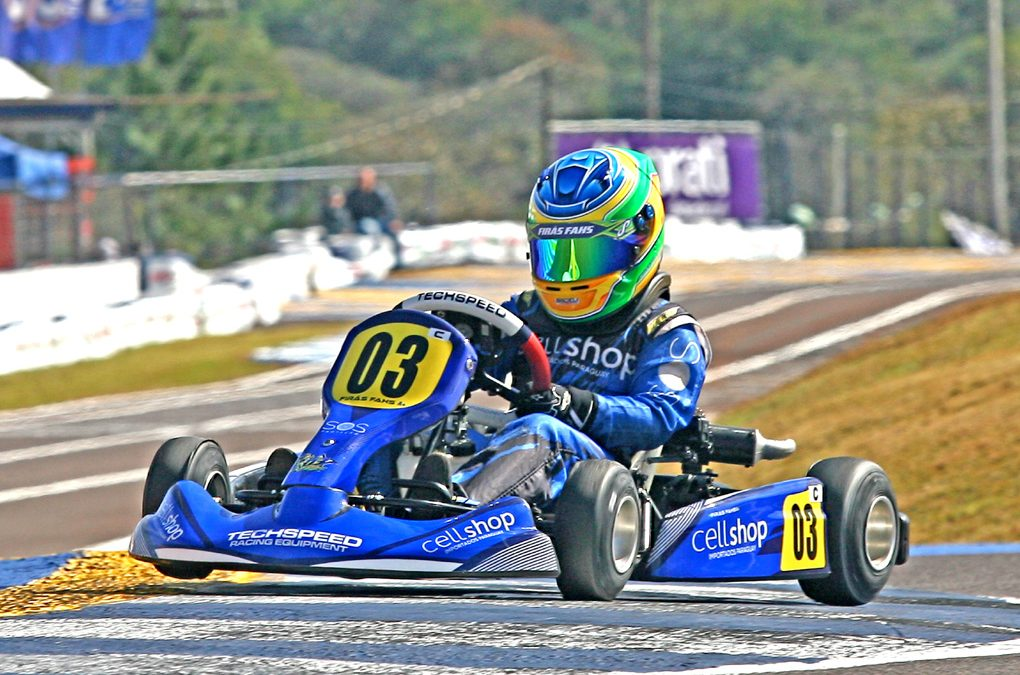 Firás Fahs considera bom o 1º dia de Brasileiro de Kart em Cascavel