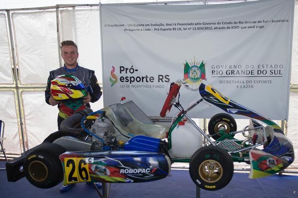 Eduardo Lazzari representa o Rio Grande do Sul no 55º Campeonato Brasileiro de Kart