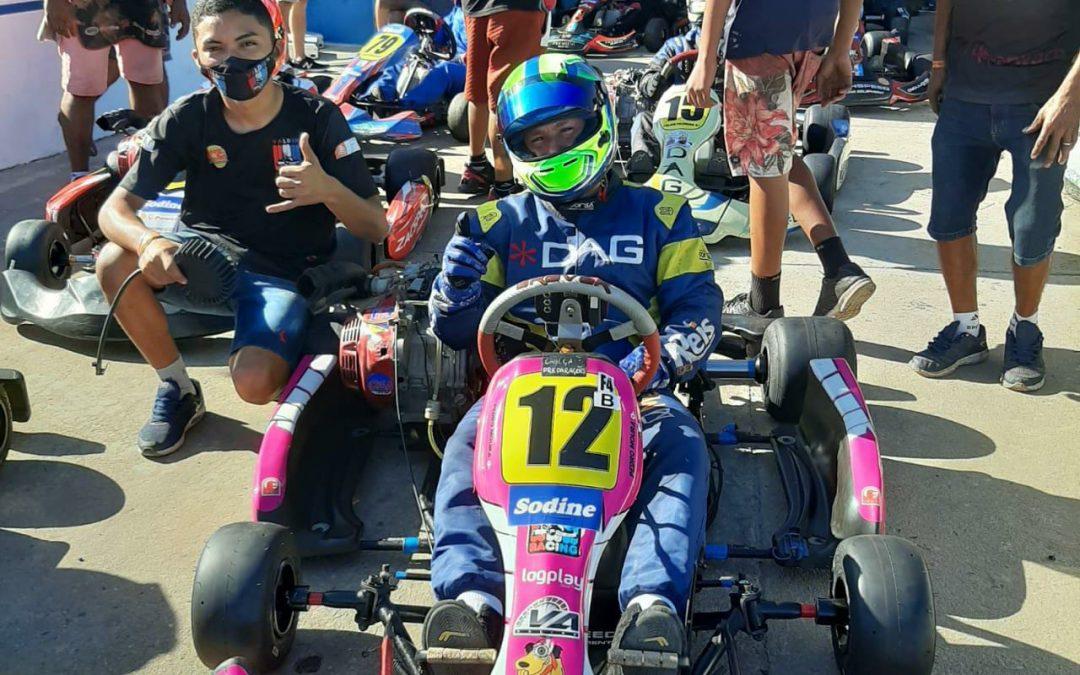 Cearense Pedro Moura estreia no Campeonato Nordeste de Kart com 3º lugar na categoria F-4 B