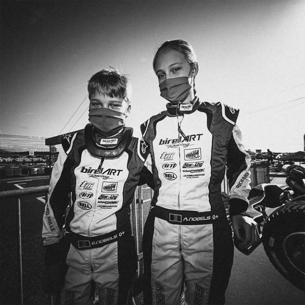 Irmãos, Aurelia e Ethan Nobels se destacam no kartismo brasileiro